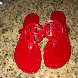 Tory Burch Shoes - Red Tory Burch Miller sandals